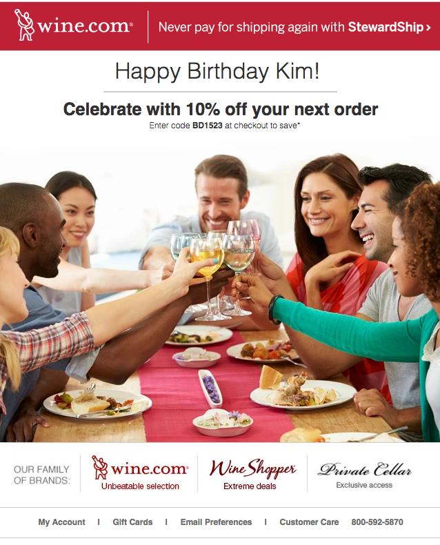 Email di buon compleanno: personalizzazione
