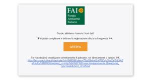 Email di iscrizione alla newsletter