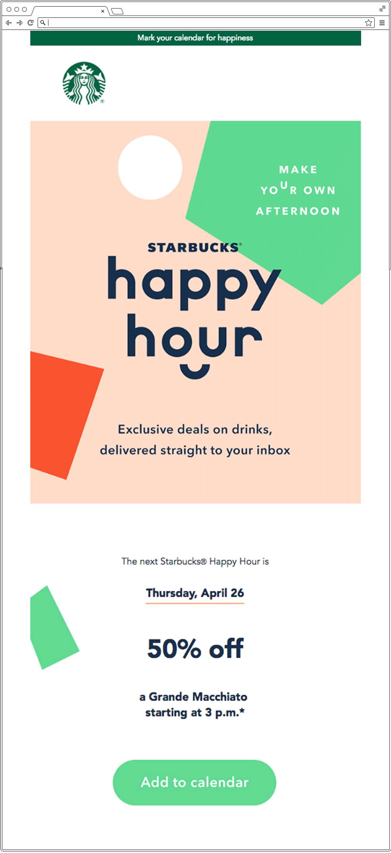 Email design bulletproof: l'esempio di Starbucks