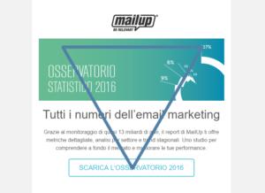 Email Osservatorio Statistico di MailUp