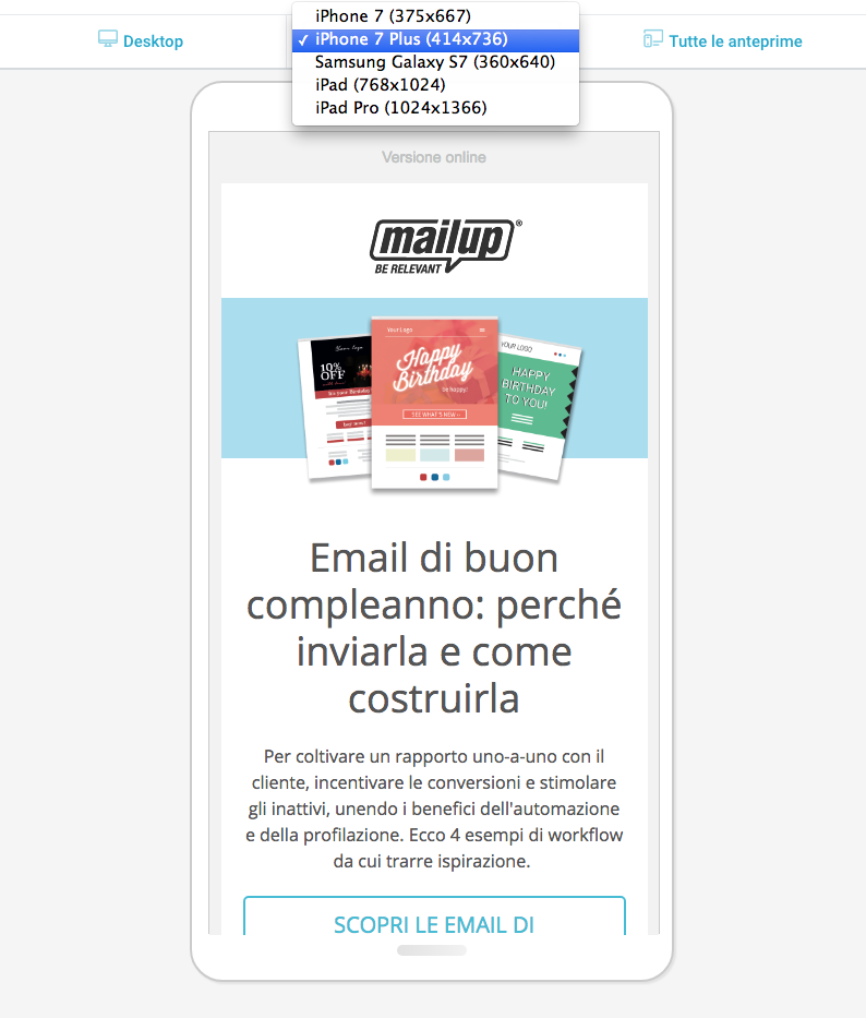 Email mobile responsive: anteprime
