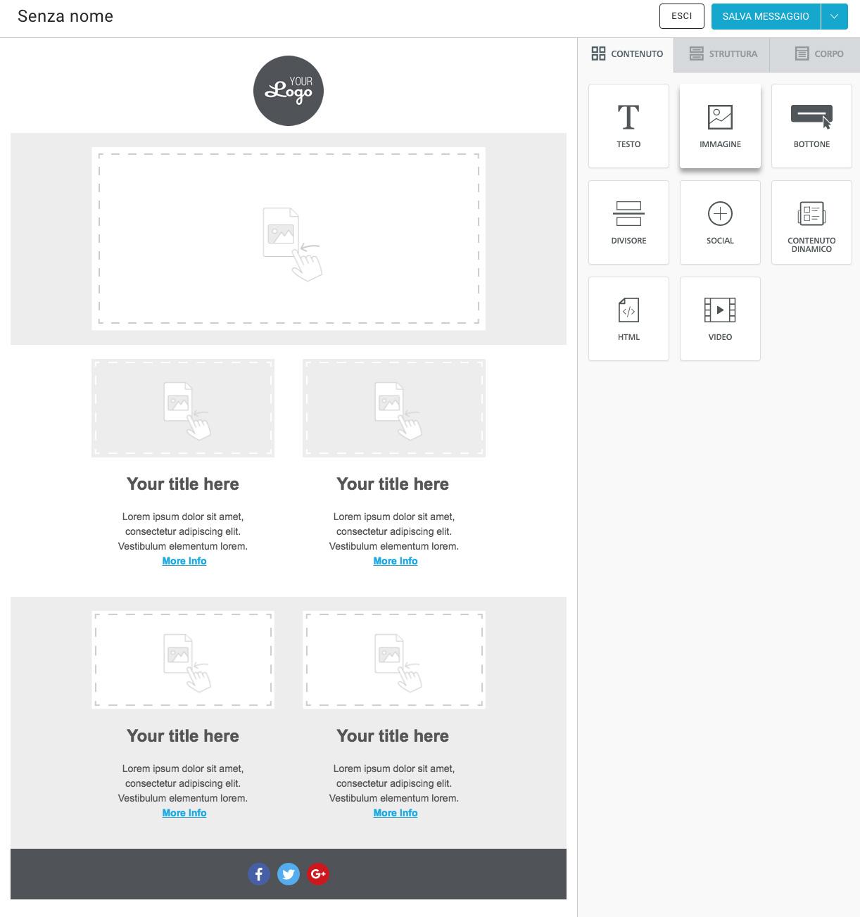 Creazione email mobile responsive con BEE