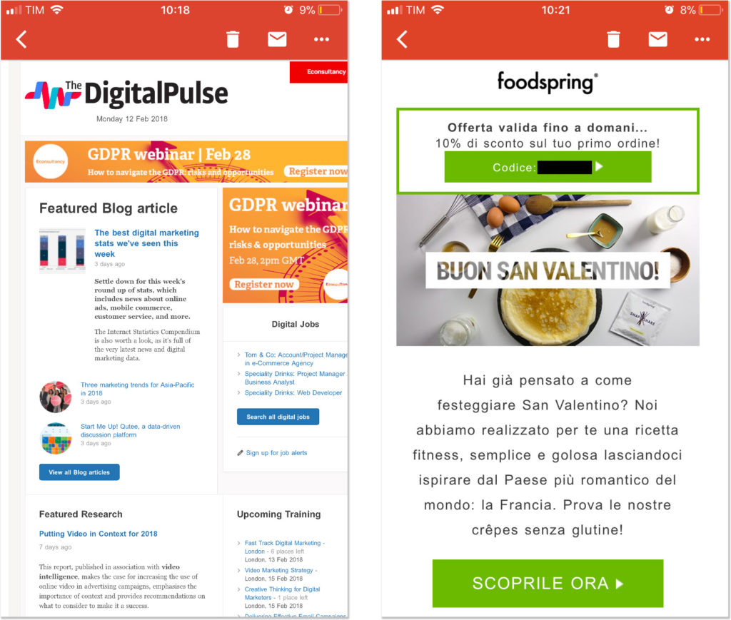 Email mobile responsive: CTA