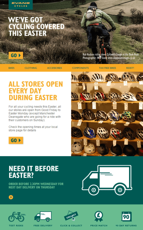Email Pasqua Evans Cycles