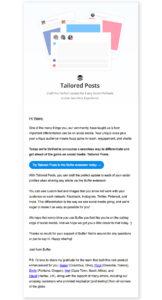 Email promozionale di lancio prodotto