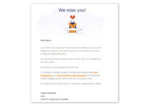 Email riattivazione