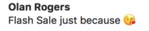 Un'email con emoji nell'oggetto.