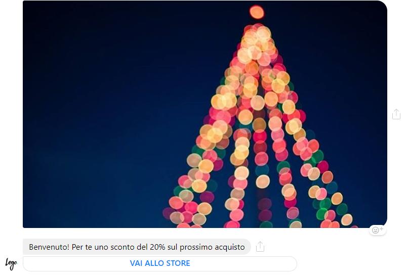 Un esempio di campagna Messaging per Natale