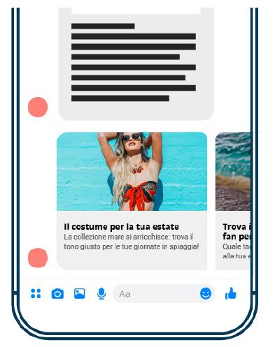 Una campagna Facebook Messenger