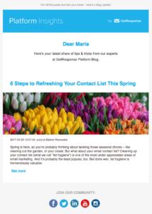 Email Pasqua Getresponse