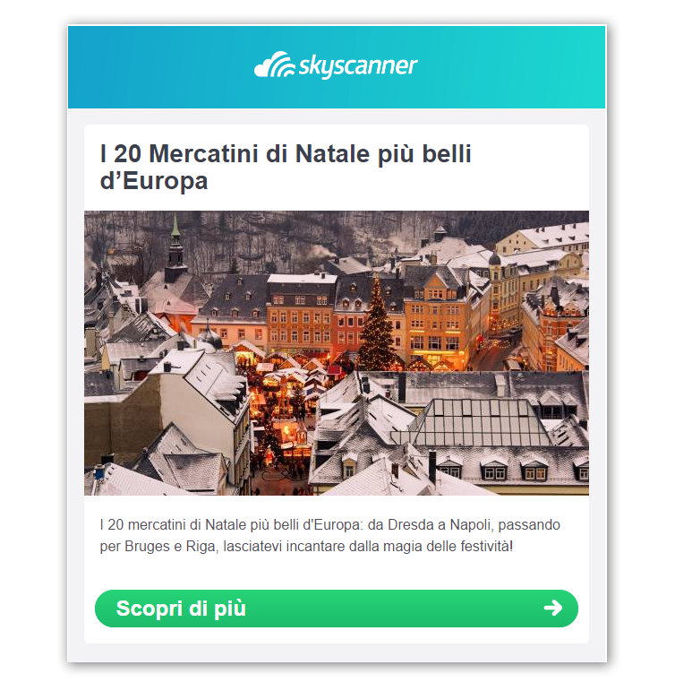 Email Natale Skyscanner