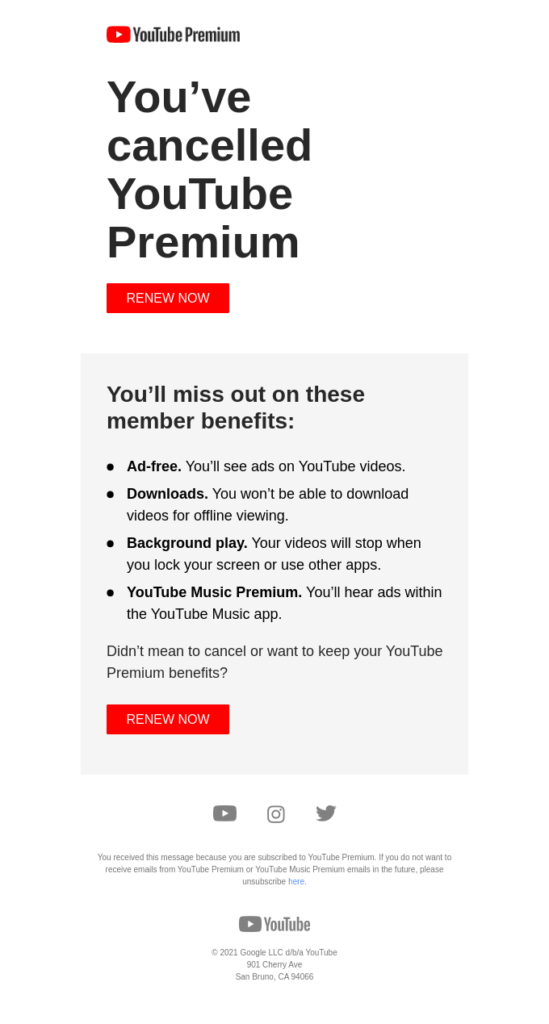youtube esempio elenco puntato
