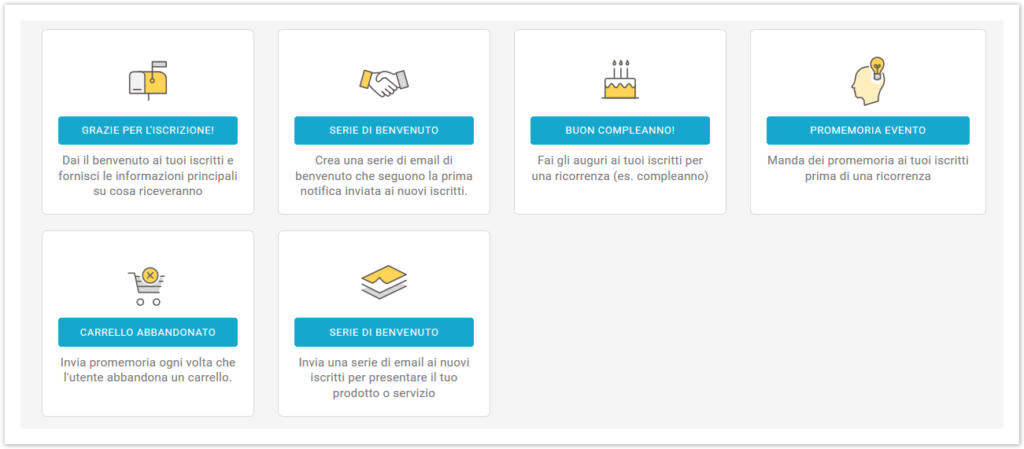 workflow preconfigurati MailUp