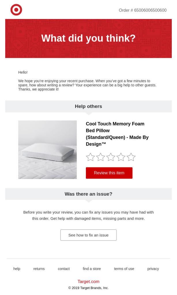 email di esempio richiesta feedback
