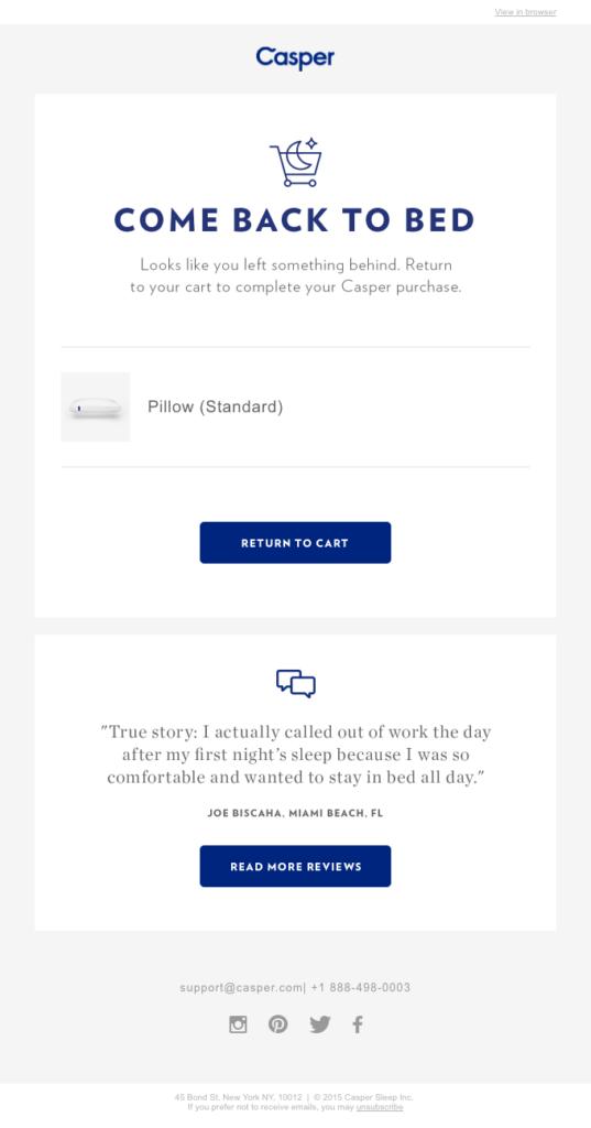 casper esempio di feedback