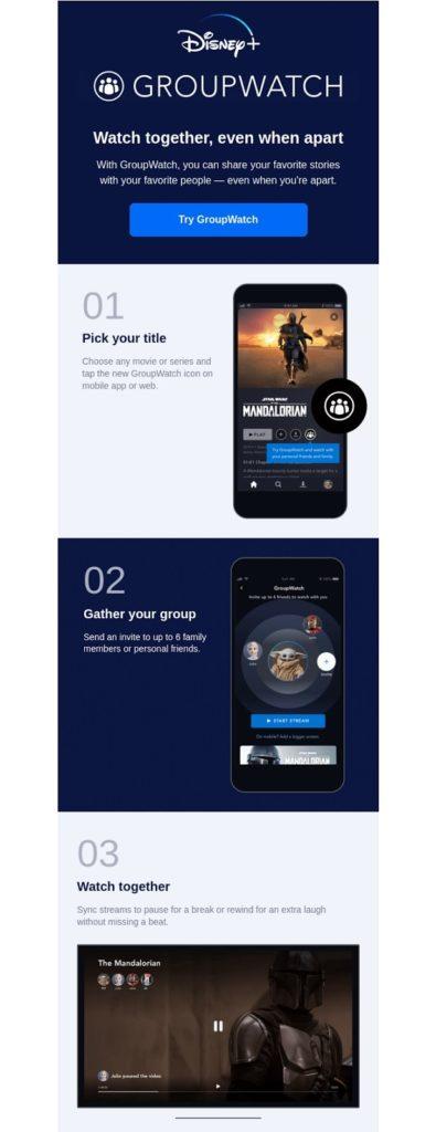 disney+ informazioni utilizzo group watch