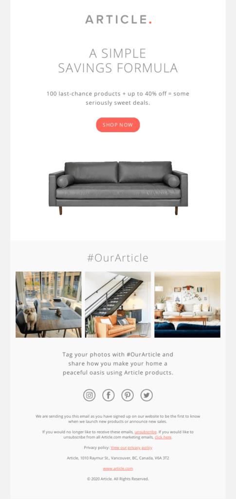 article-minimal-design-example