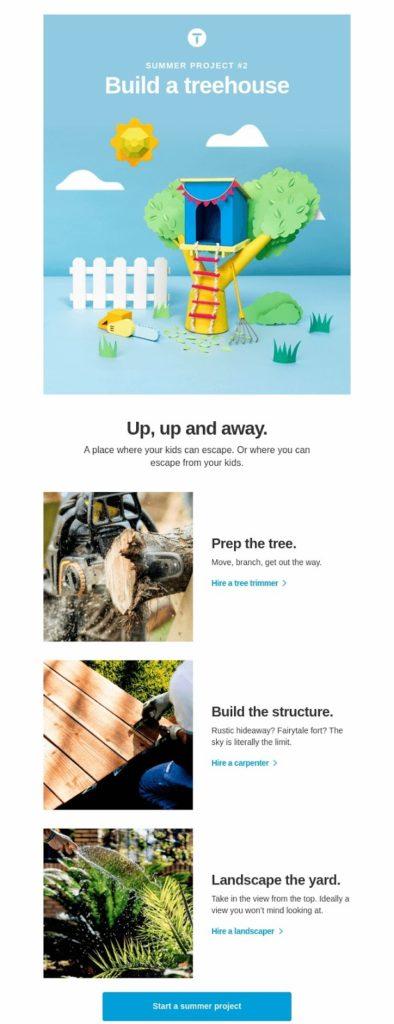 thumbtack drip campaign email 2