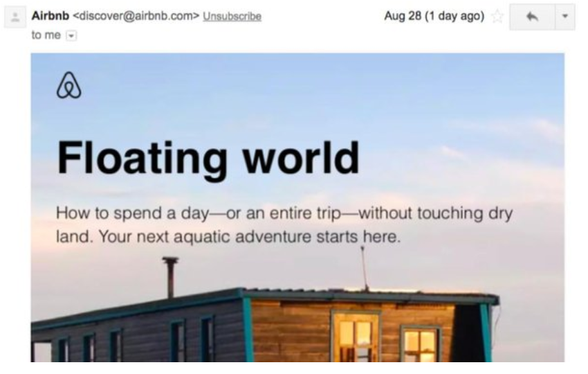 floating world airbnb campaign