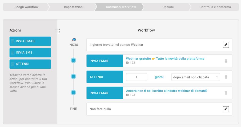 come impostare un flusso automatico con MailUp