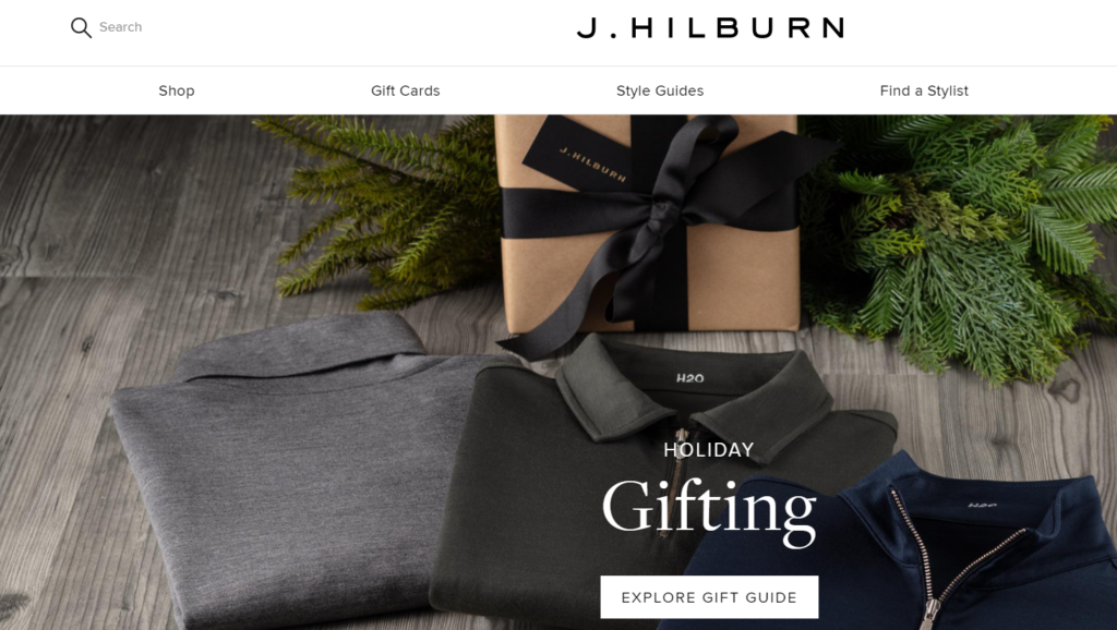 hilburn landing page example