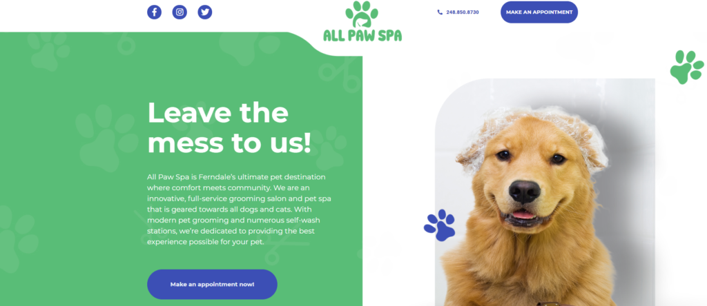 all paw spa example