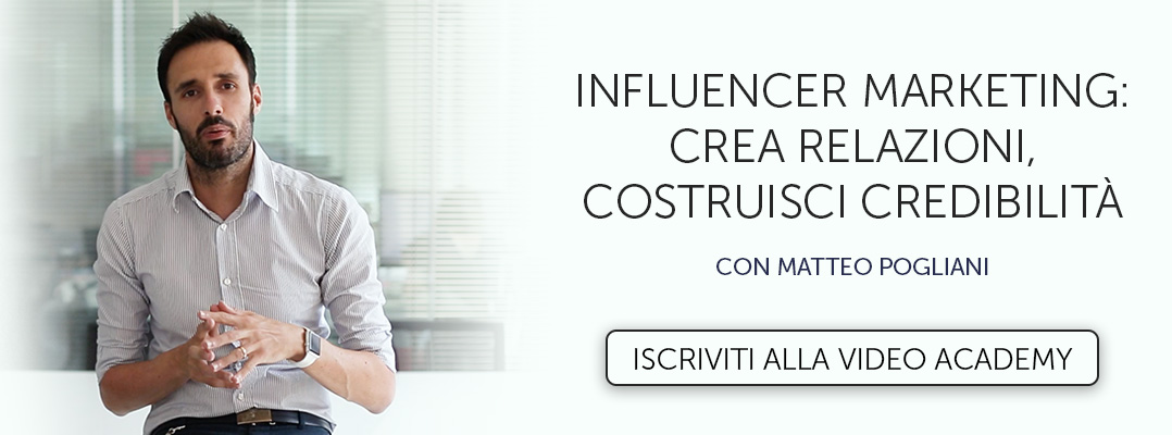 Iscriviti alla Video Academy Influencer Marketing