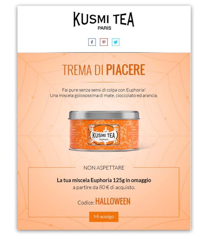 Kusmi Tea email Halloween