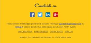 Link disiscrizione email esempio