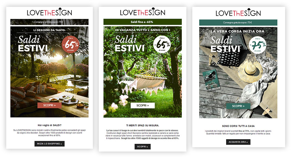 Lovethesign email estate MailUp