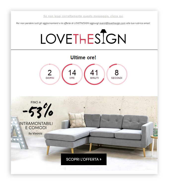 lovethesign timer email mailup