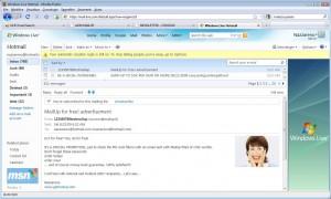 La prima email contiene numerose keyword tipiche dello spam, eppure non è stato filtrato da Hotmail, grazie alla reputazione positiva del server di invio.