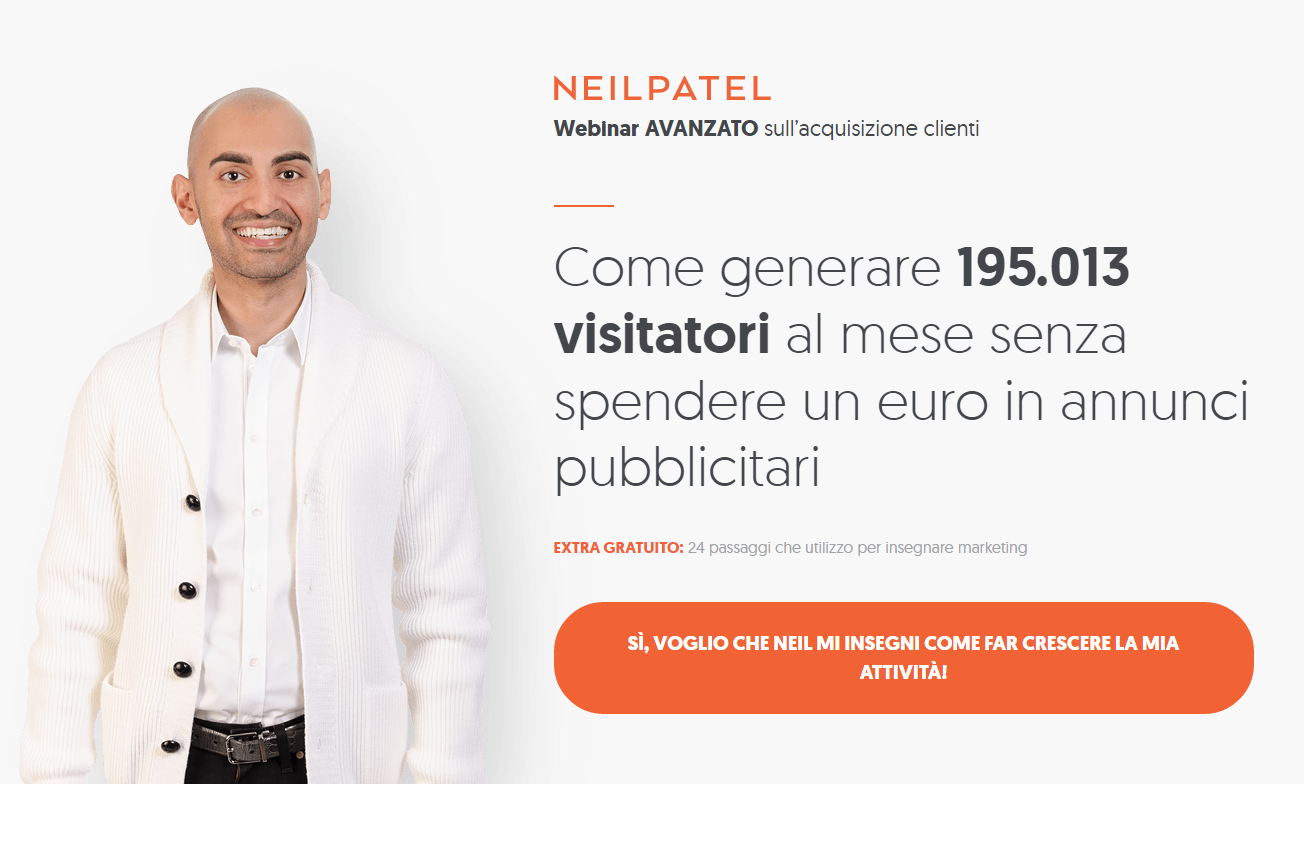 Bottone CTA in landing page