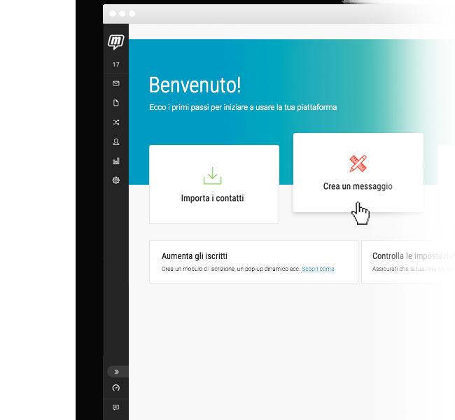 Dashboard nuovo utente MailUp 9