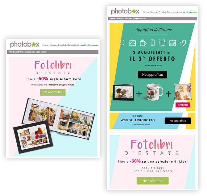 Photobox email estate MailUp