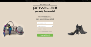 landing page Privalia