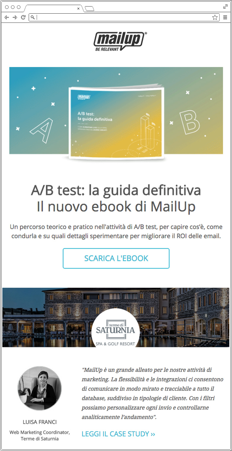 Recensioni email: case study