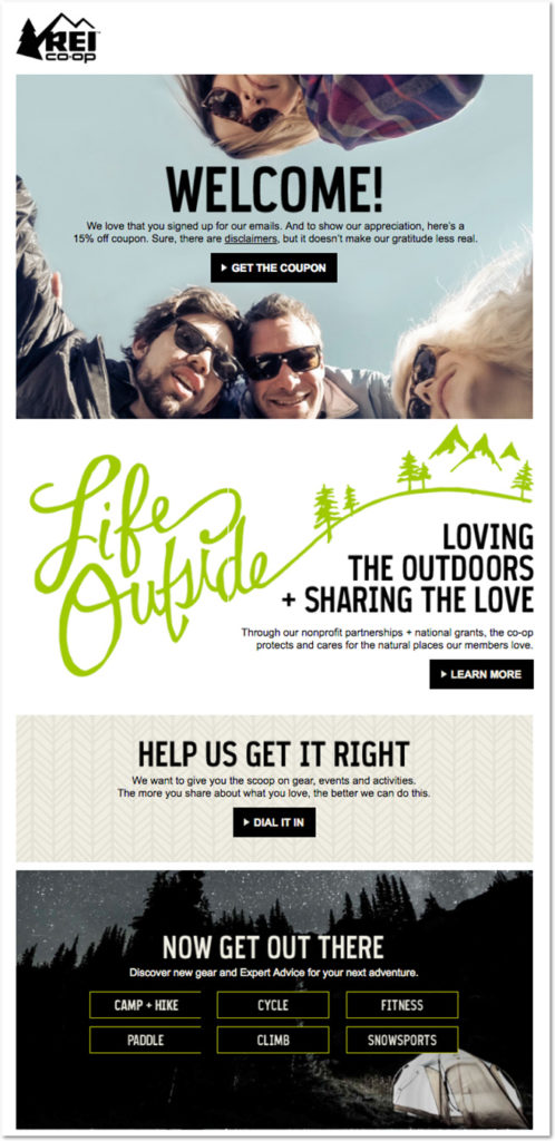 rei welcome email 1