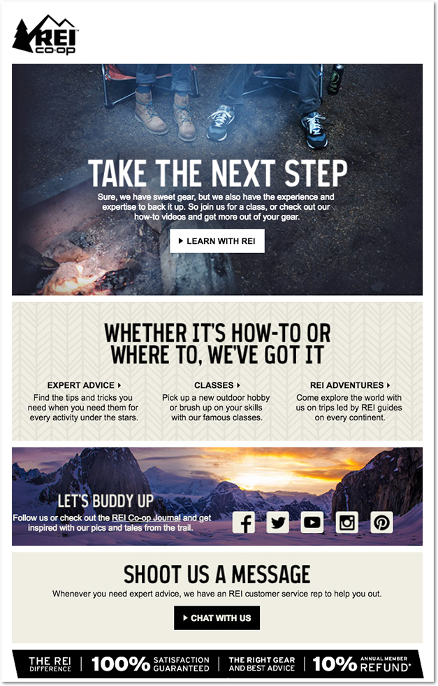 rei welcome email 2