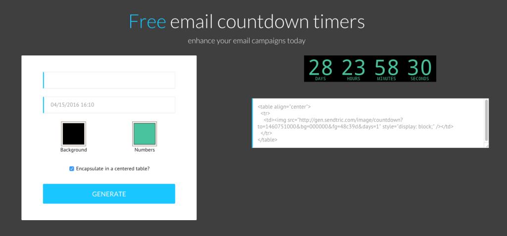 Timer email Sendtric ok