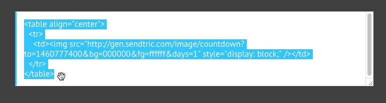 Sendtric timer email codice