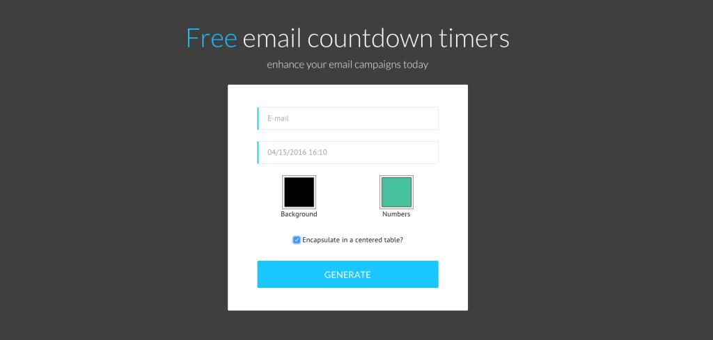 Timer email Sendtric