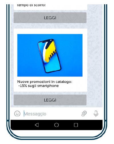 Una campagna Telegram