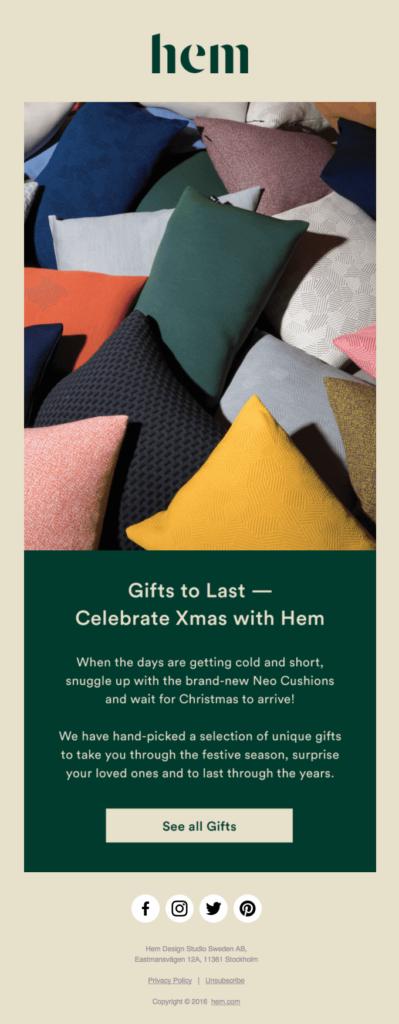 La campagna di Natale di Hem
