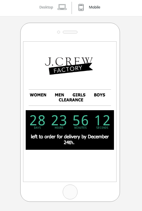 Timer email preview
