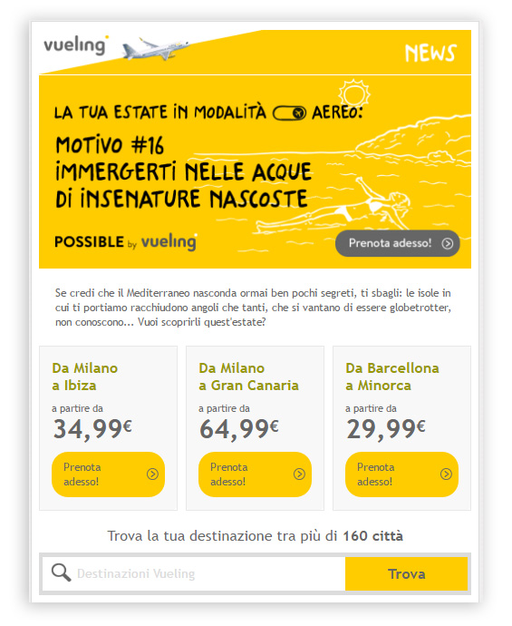 vueling font email mailup