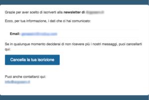 Welcome email: cosa non fare