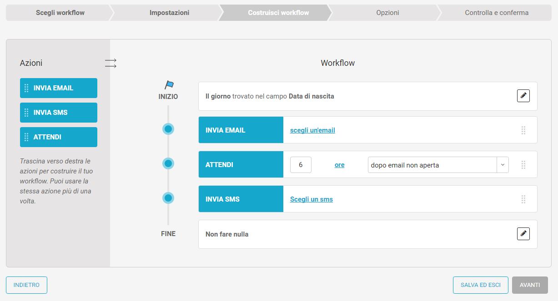 3. Costruisci il workflow