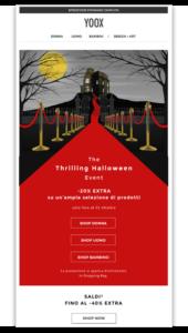 Yoox email Halloween
